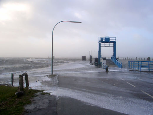 Sturmflut 2005 Schlüttsiel und Dagebüll