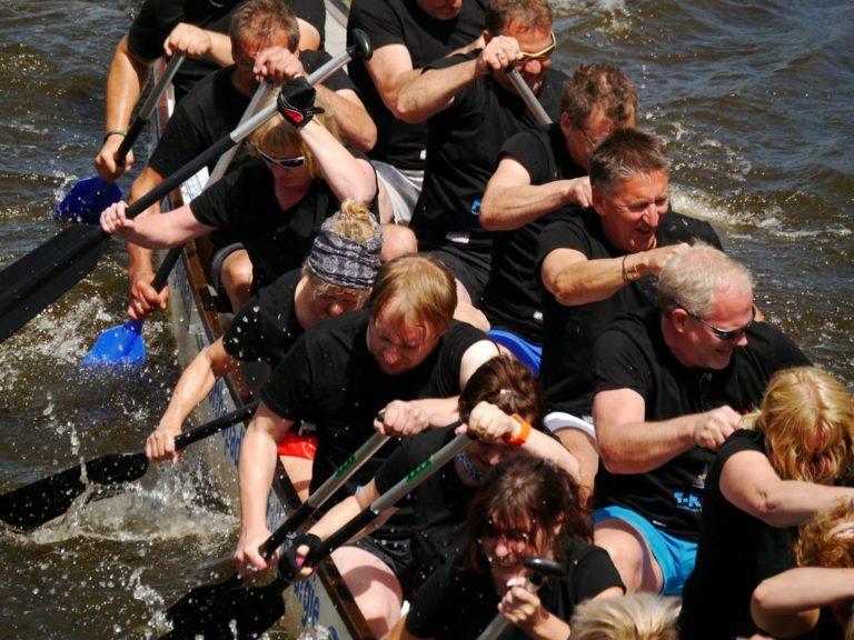 Fotos vom Drachenboot Festival in Friedrichstadt 2018
