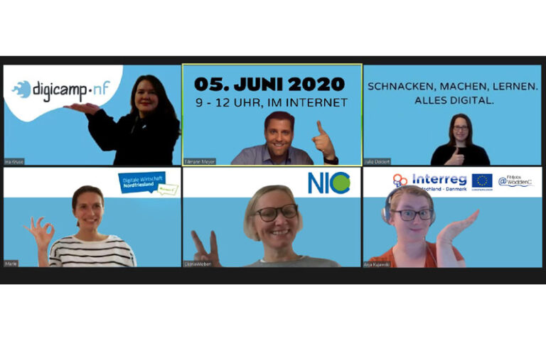 Wirtschaftsförderung NF und Fit4Jobs@WaddenC organisieren ein Barcamp als Video-Konferenz