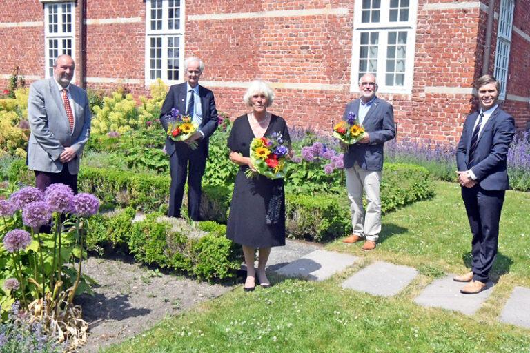 Verleihung der Freiherr-vom-Stein-Verdienstnadel an drei Persönlichkeiten aus Nordfriesland